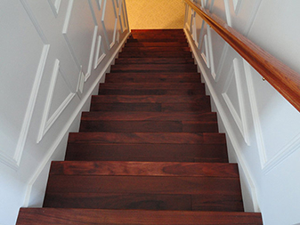 Custom Stairs by Granite Mountain. Come visit our showrooms in Bourbonnais and New Lenox, Illinois!