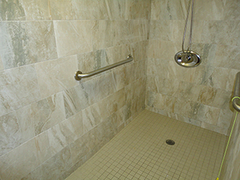 Custom Bathroom Tile Shower Project By Granite Mountain. Come visit our showrooms in Bourbonnais or New Lenox, Illinois!