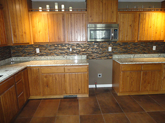 Kitchen Backsplash by Granite Mountain. Come visit our showrooms in Bourbonnais and New Lenox, Illinois!
