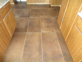 Custom Tile Flooring By Granite Mountain. Come visit us in either Bourbonnais or New Lenox, Illinois!