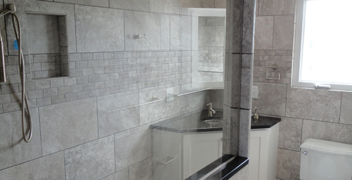 Tile / Stone Walk-in Shower - Granite Mountain.